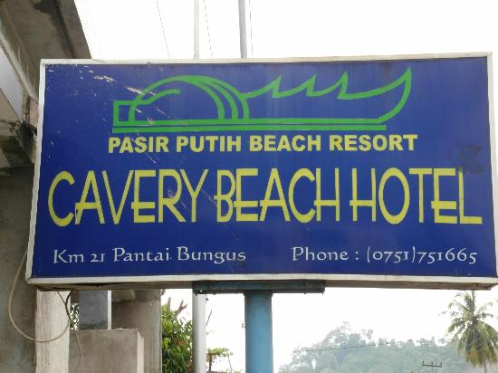 Cavery Beach Hotel: The hotel sign as seen from the road