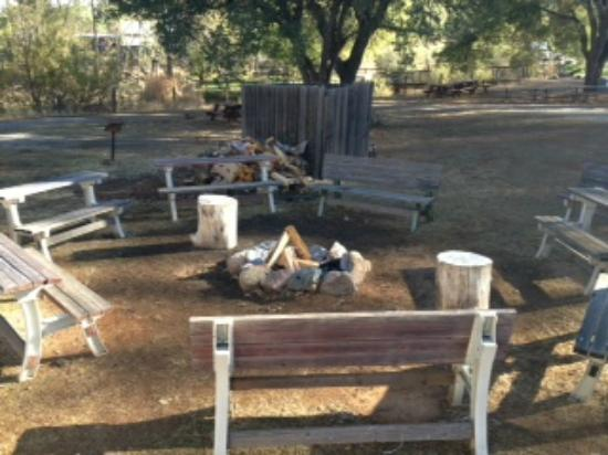 Placerville KOA: Community camp fire with free wood!