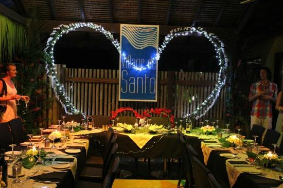 Village de Santo Resort: Beautiful set up for our Wedding Reception at Resuarant 1606 at Village de Santo