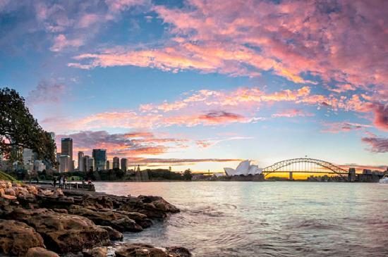 Sidney, Australia: Sydney Harbour Sunset. Credit: Kajo Merkert
