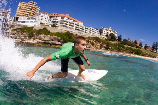 Sidney, Australia: Surfing at Bondi Beach. Credit: Mikala Wilbow, Let's Go Surfing