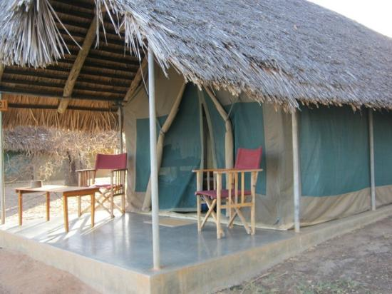 Tarangire Safari Lodge: Outside of tent