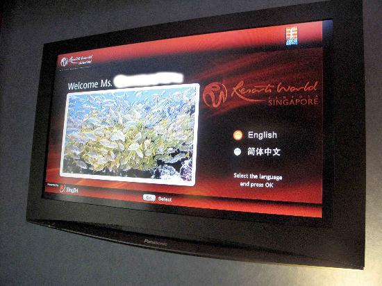 รีสอร์ท เวิร์ลด์ เซ็นโตซ่า-โรงแรม เฟสทีฟ: personalized welcome via television