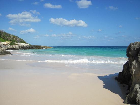 Elbow Beach, Bermuda: at the end of the beach