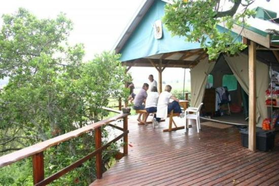 Bushbuck Camp: Nesteled in amongst the trees