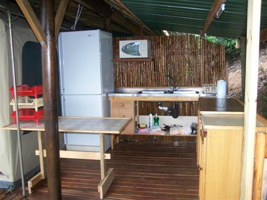 Bushbuck Camp: Rustic Kitchen