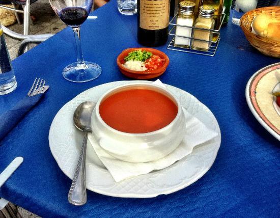 Bar Virtudes: Gazpacho soup