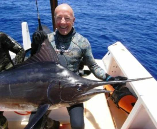 Orca Sakatia Spearfishing & Freediving Centre : Craig with a 70kg black marlin