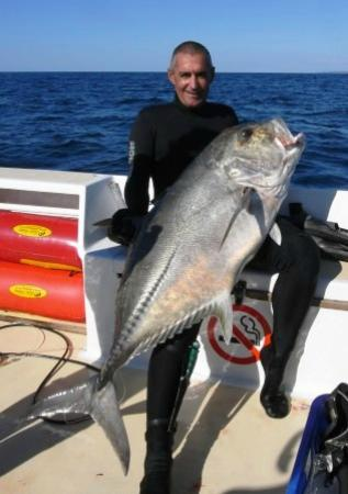 Orca Sakatia Spearfishing & Freediving Centre : Benoir with a nice 37kg GT
