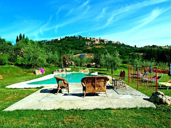 Agriturismo Ardene: Pool mit Blick auf Montepulciano