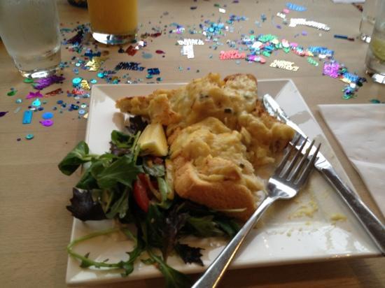 Lakeside Cafe: smoked haddock rarebit