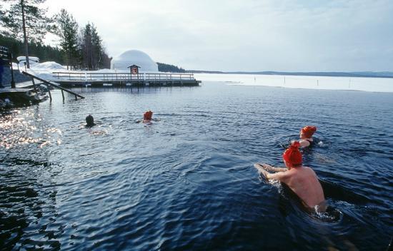 Hotel Jeris : winter swimming