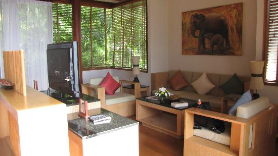 Ayara Kamala Resort & Spa: Grand Pool Villa Ocean View, living room