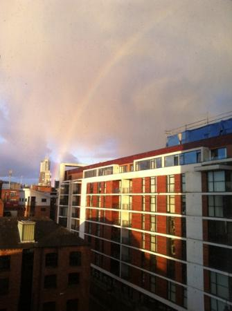 Blue Rainbow ApartHotel - Manchester Central: The blue rainbow apartments has it's own view of a rainbow :)