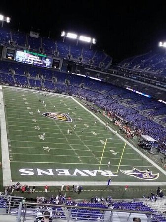 M&T Bank Stadium: 1st game under the lights. Had great time!! People were great. Staff was very helpful. Thumbs up