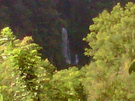 Pondok Senaru Cottages: A glimpse of Sendang Gile waterfall.