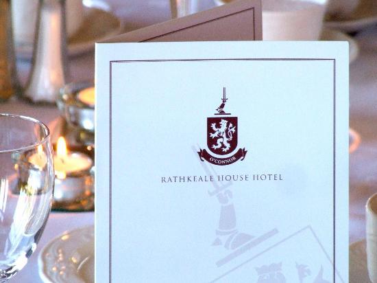 Rathkeale House Hotel : Menu's