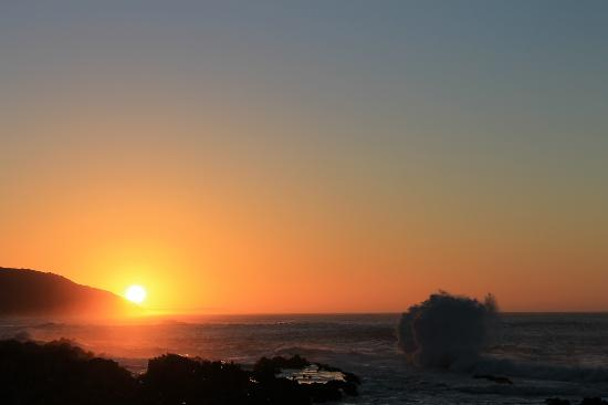 Storms River Mouth Restcamp: Sonnenaufgang