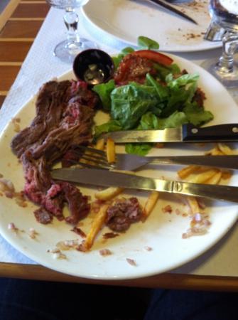 Hotel Cote d'Argent : viande demandée saignante : dure comme du carton.