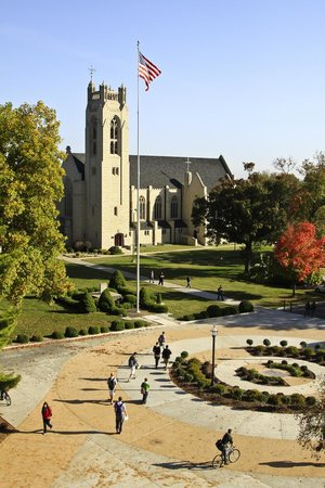 Point Lookout, MO: Williams Memorial Chapel is literally and figuratively at the heart of the campus.