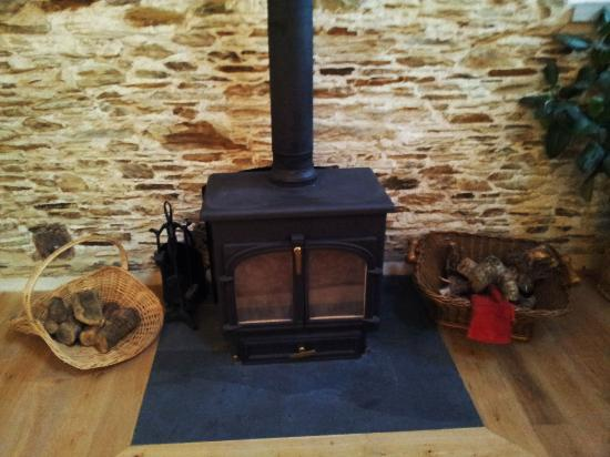 East Trenean Farm Luxury Holiday Barns: Log burners in the three main barns (not the Linhay)