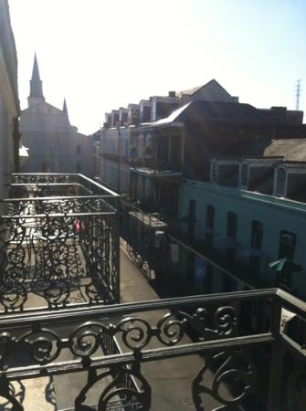 Bourbon Orleans Hotel: morning view from our 5th floor balcony