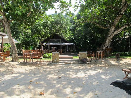The Tubkaak Krabi Boutique Resort : Beach looking back at the restaurant.