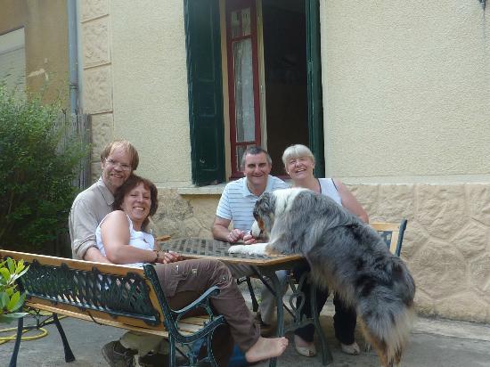 Puilaurens, Francia: Lisa, Kevin, Athos et nous