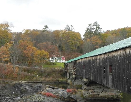 Bath Covered Bridge : Not much to look at, and we could not venture onto the bridge