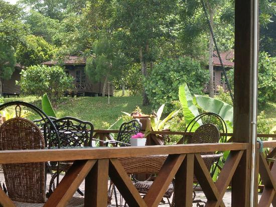 Sepilok Forest Edge Resort: завтрак для птичек