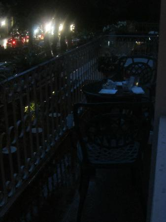 Hotel David: Balcony at night.