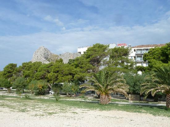 Hotel Plaza Omis Croatia from the Beach