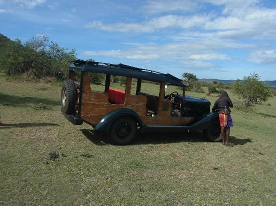 Cottar's 1920's Camp: An original safari car, withness of history