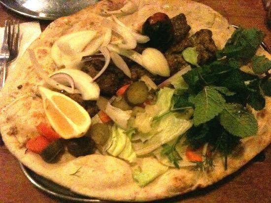 Patogh Restaurant: Lamb Kebab with bread