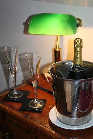 Byfords : Champagne can be ordered in advance.