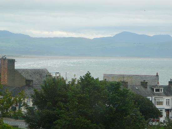 The Lion Hotel: View from room to Harlech