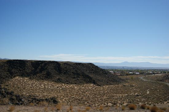 Petroglyph National Monument: View of Petroglyph Nat. Mon. with ABQ in the background