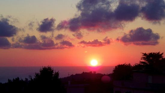 Sunset from our balcony at Residenza Villa Titina