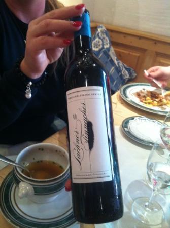 Hotel Zur Tenne Restaurant: Top Austrian Wine