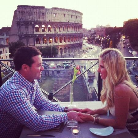 Palazzo Manfredi - Relais & Chateaux: at Aroma, the rooftop restaurant. Very romantic