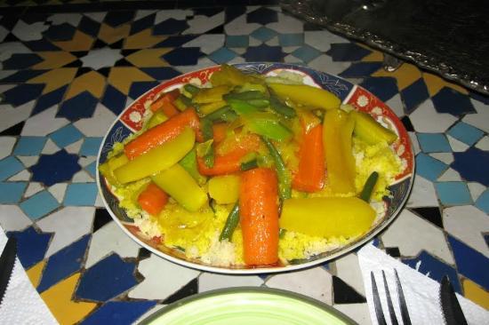 Mille et une nuits: Couscous with seven vegetables
