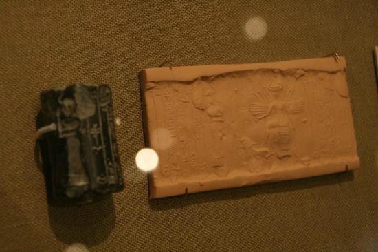 Oriental Institute Museum: Cylinder seal, Mesopotamian Gallery