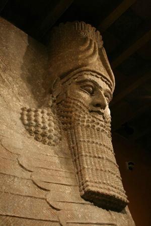 Oriental Institute Museum: Lamassu from Khorsabad, Mesopotamian Gallery