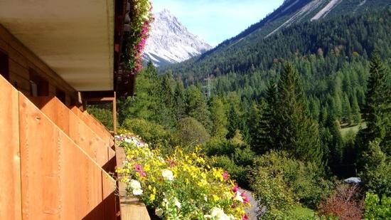 Alpspitz Pension: Aussicht vom Balkon