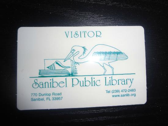Sanibel Public Library: Sanibel Visitors Card