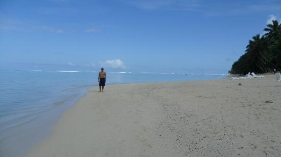 Makayla Palms: the stunning beach - only people on it most of the time!!