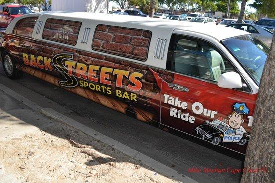 BackStreets Sports Bar: Their limo
