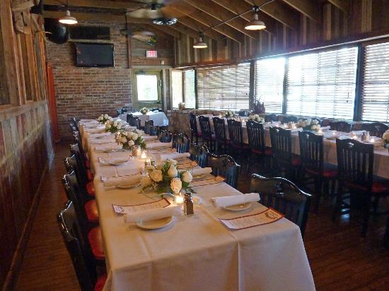 Saltgrass Steak House: Private Dining Room Set Up For 40 People.