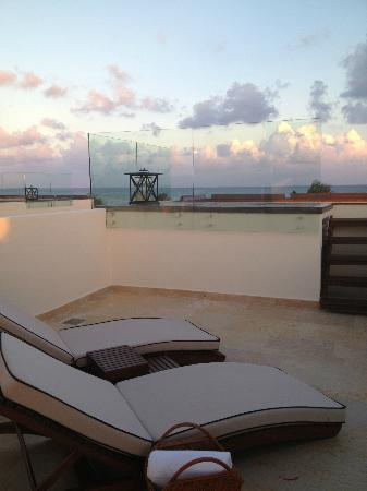 Rosewood Mayakoba: LAGOON/BEACH Rooftop deck and Plunge pool