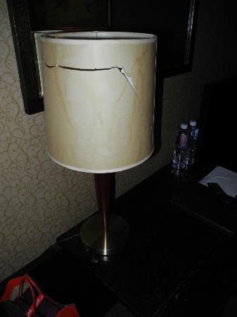 GreenTree Inn Shanghai Yan'an Middle Road : damaged light shade